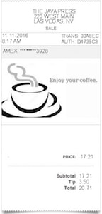 Coffee Receipt